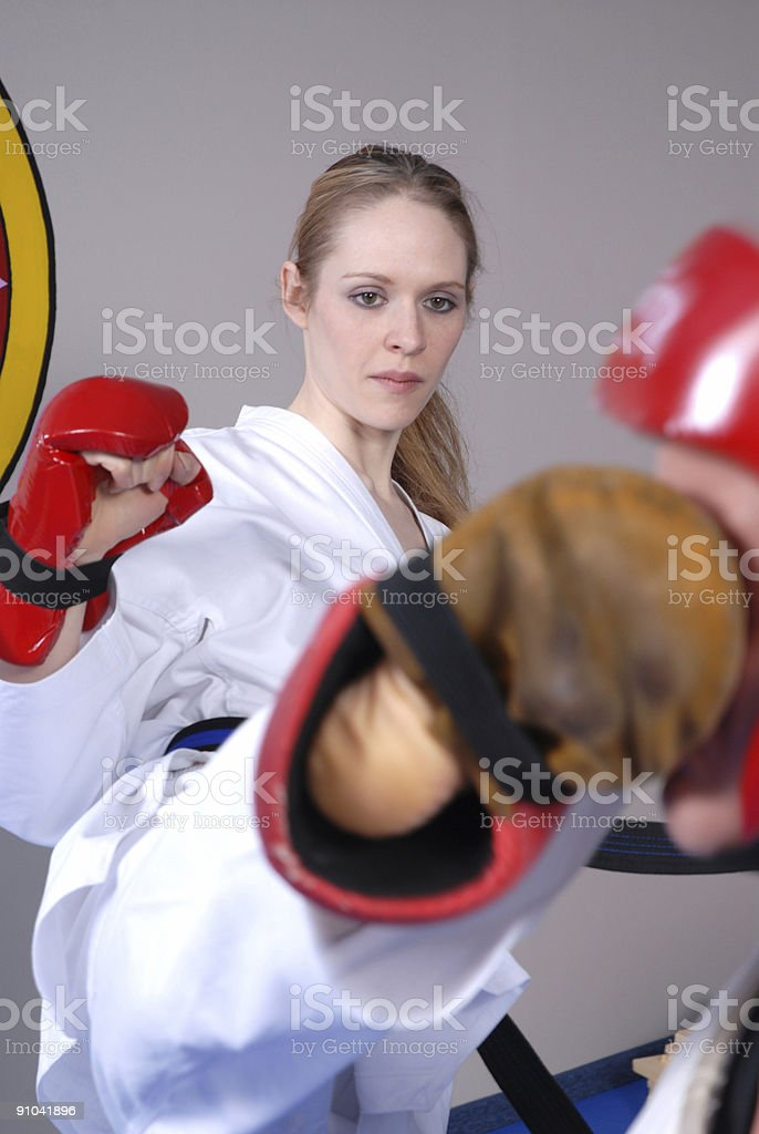 sparring workout stock photo