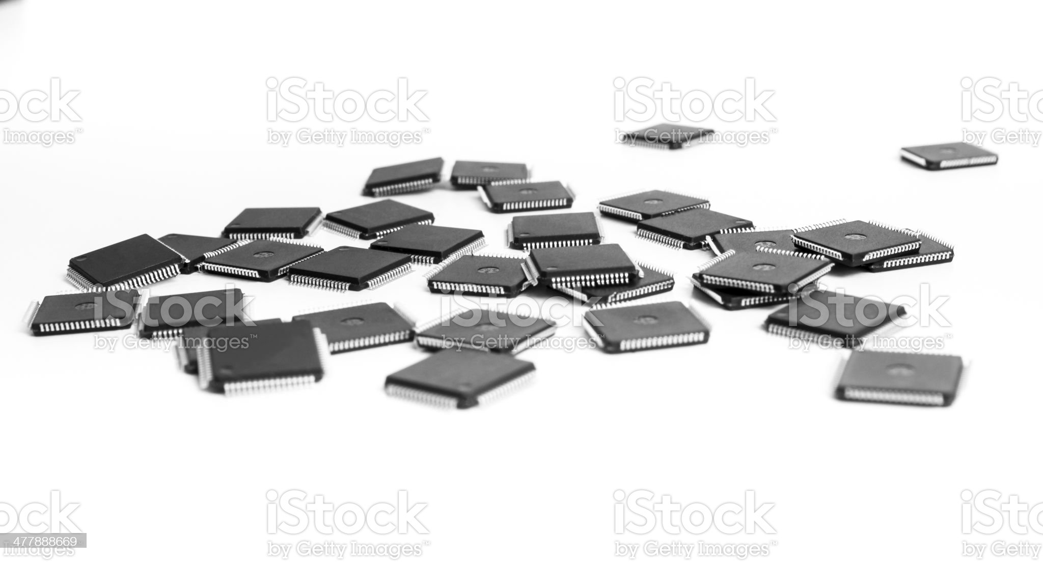 Sparse CPU micro controller on white background royalty-free stock photo