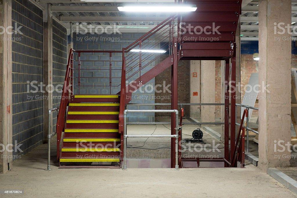 Sparse Industrial Interior stock photo