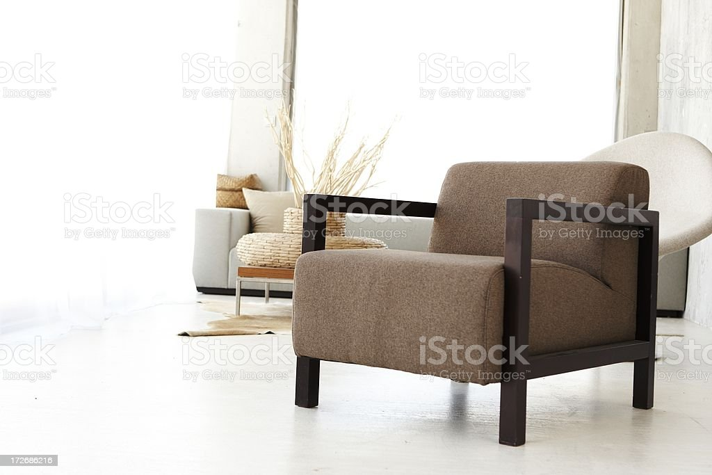sparse livingroom royalty-free stock photo