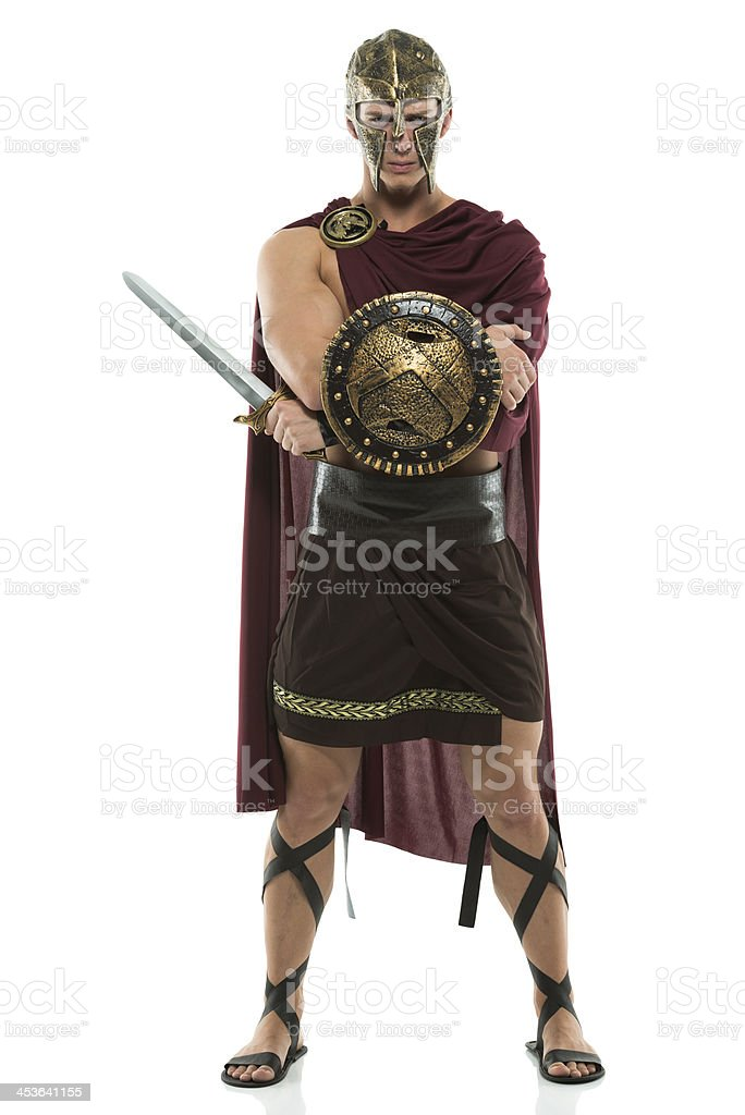 Sparta with a sword stock photo