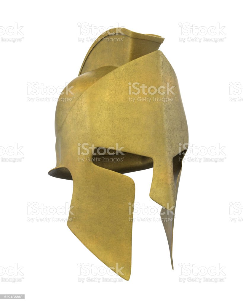 Spartan Helmet Isolated stock photo