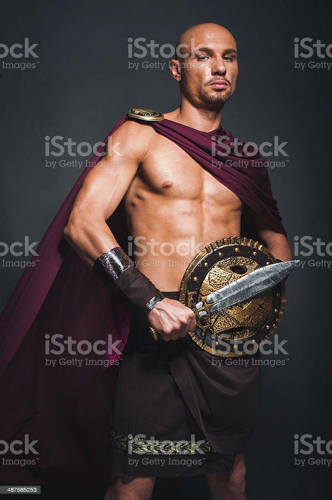 Spartan man stock photo