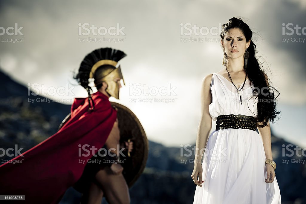 spartan queen stock photo