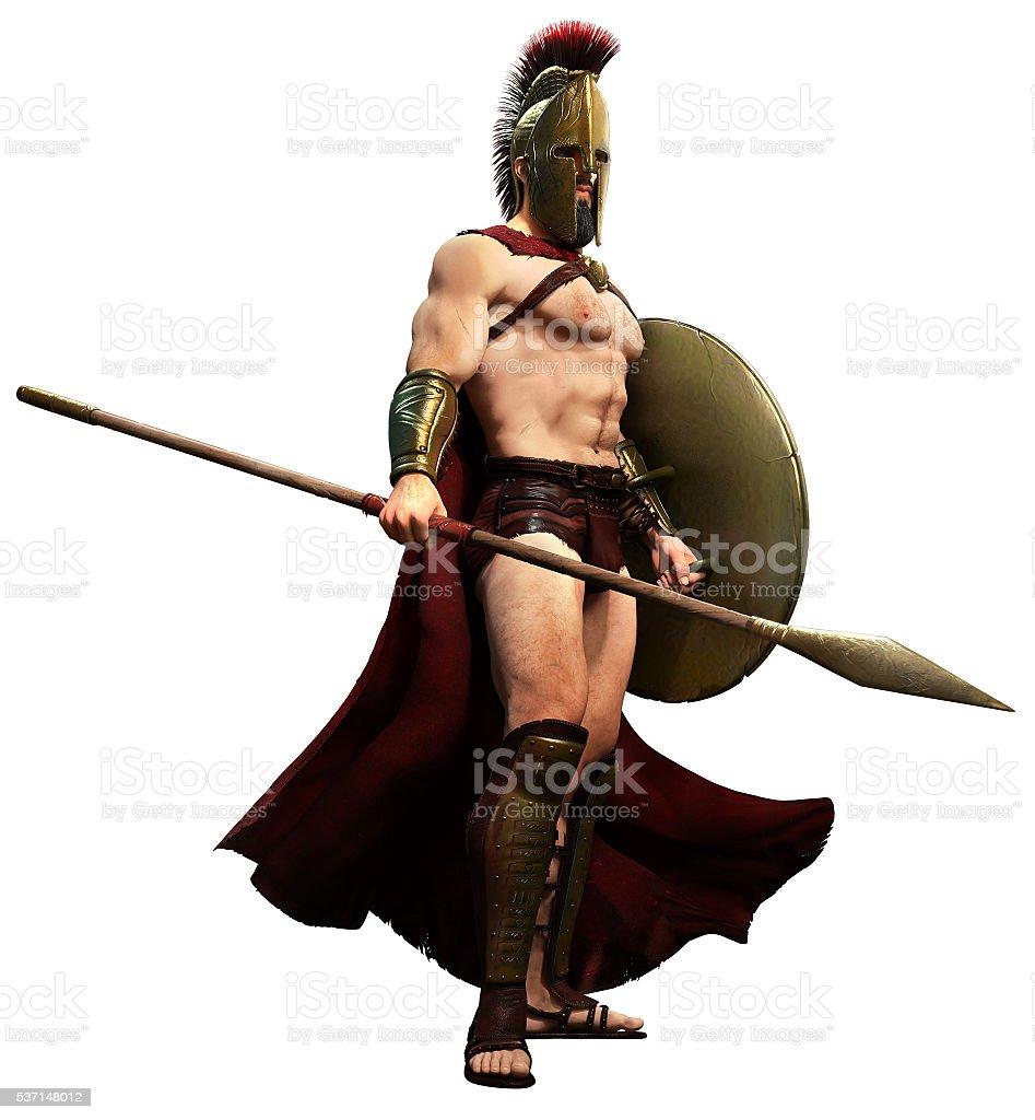Spartan warrior stock photo
