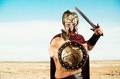 Spartan warrior ready for war