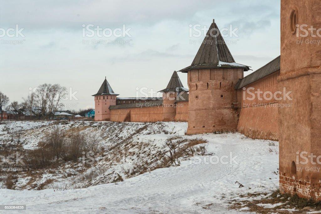 Spaso-Evfimievsky monastery in Suzdal stock photo
