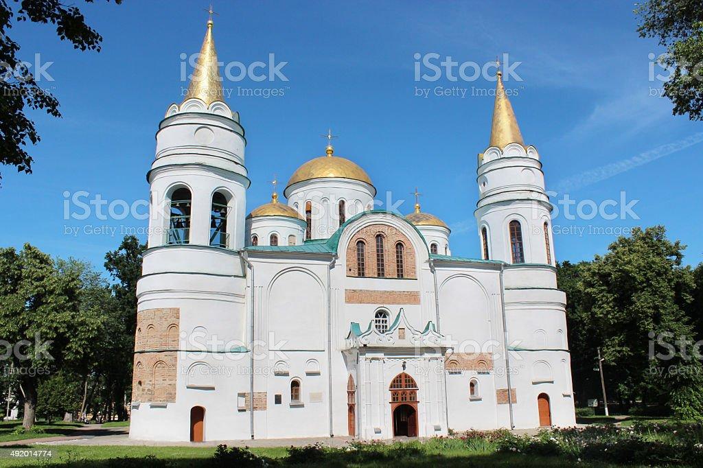 Spaso-Preobrazhenska church in Chernihiv town stock photo