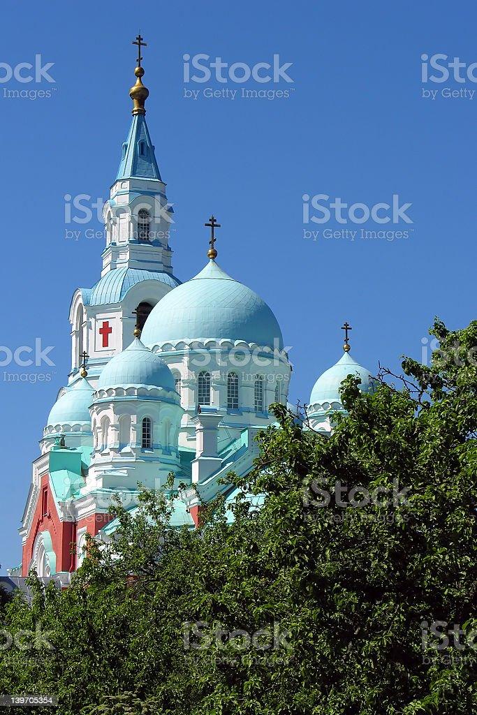 Spaso-Preobrazhenskiy cathedral royalty-free stock photo