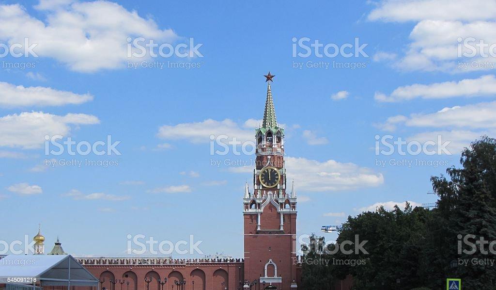 Spasskaya Tower Moscow Kremlin, Russia stock photo