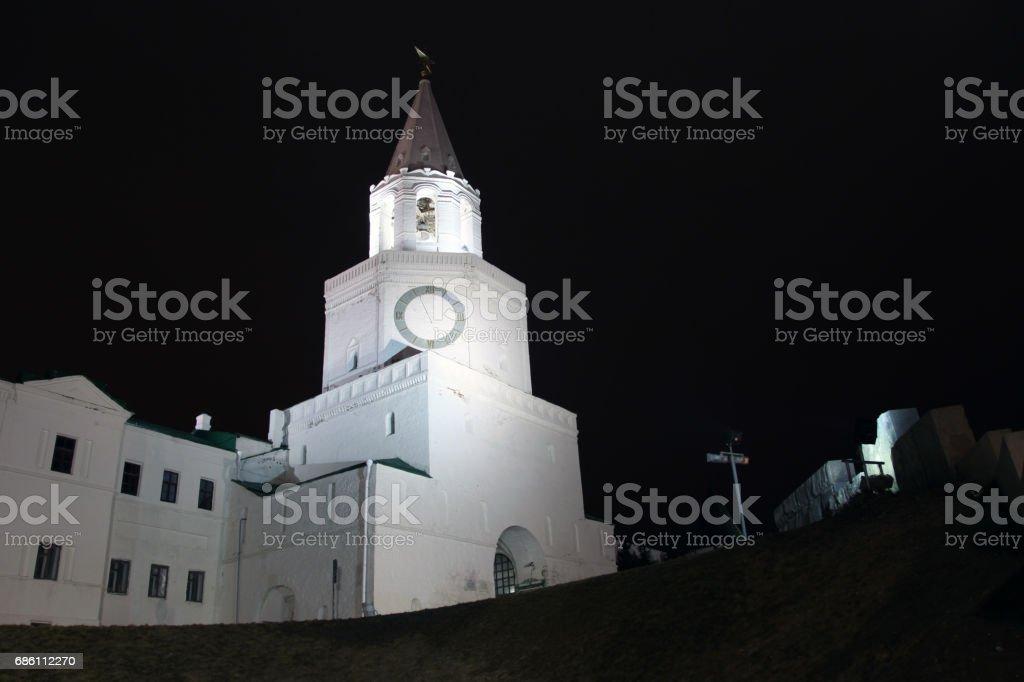 Spasskaya Tower of Kazan Kremlin. Russia. Tatarstan republic stock photo