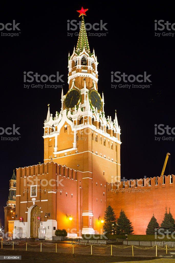Spasskaya Tower of Kremlin stock photo