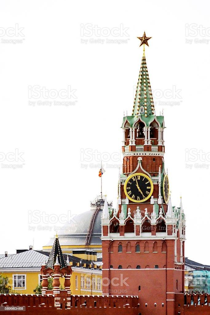 Spasskaya tower stock photo