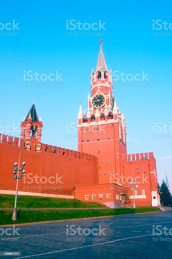 5174 - Spasskaya Tower - Red Square, Moscow stock photo