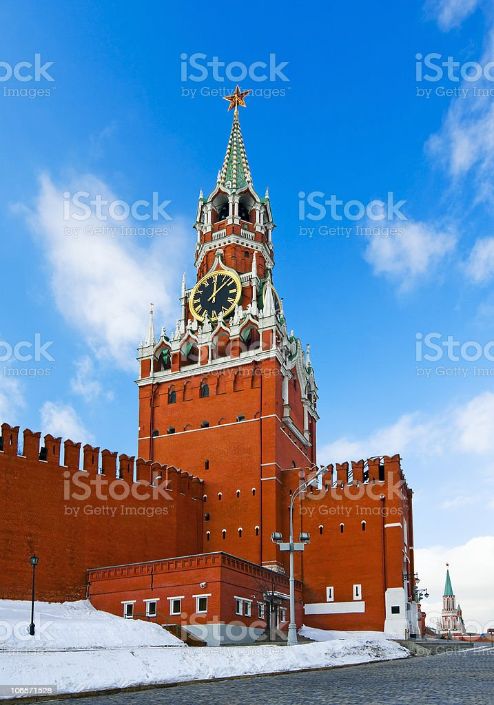 Spassky Tower of Moscow Kremlin royalty-free stock photo
