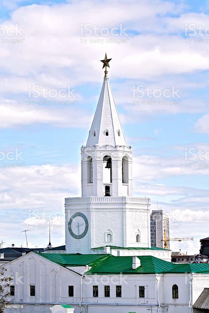 Spassky tower of the Kazan Kremlin stock photo