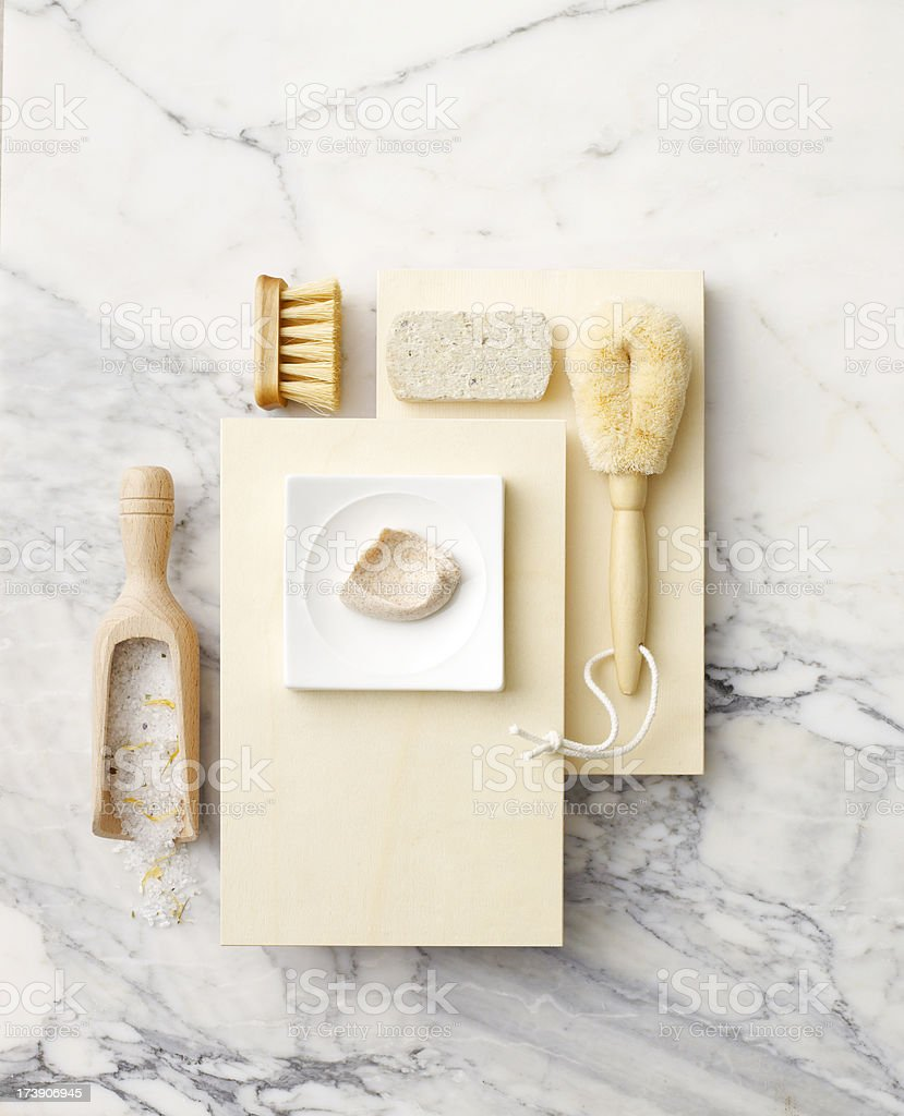 Spa-Various Exfoliating Elements A royalty-free stock photo