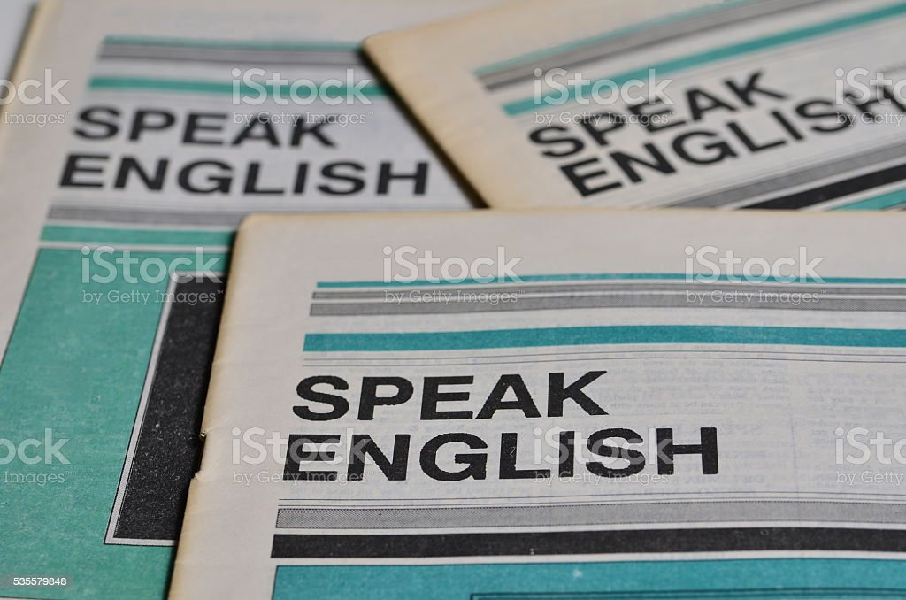 Speak english stock photo