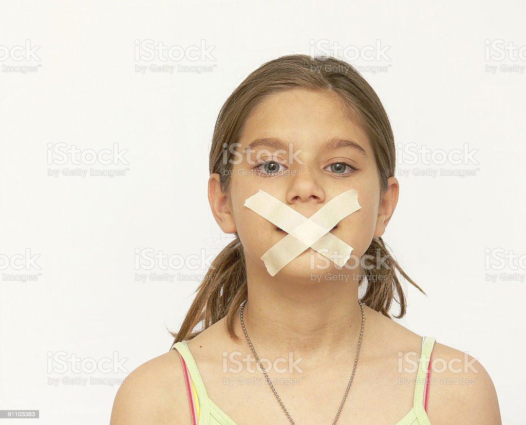 Speak No Evil royalty-free stock photo