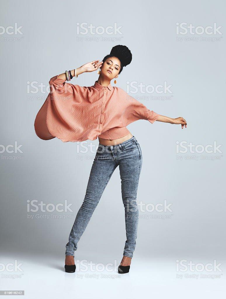 I speak two languages, Body and English stock photo