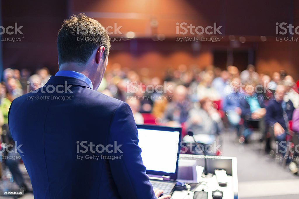 Speaker at Business Conference and Presentation. Audience at the...