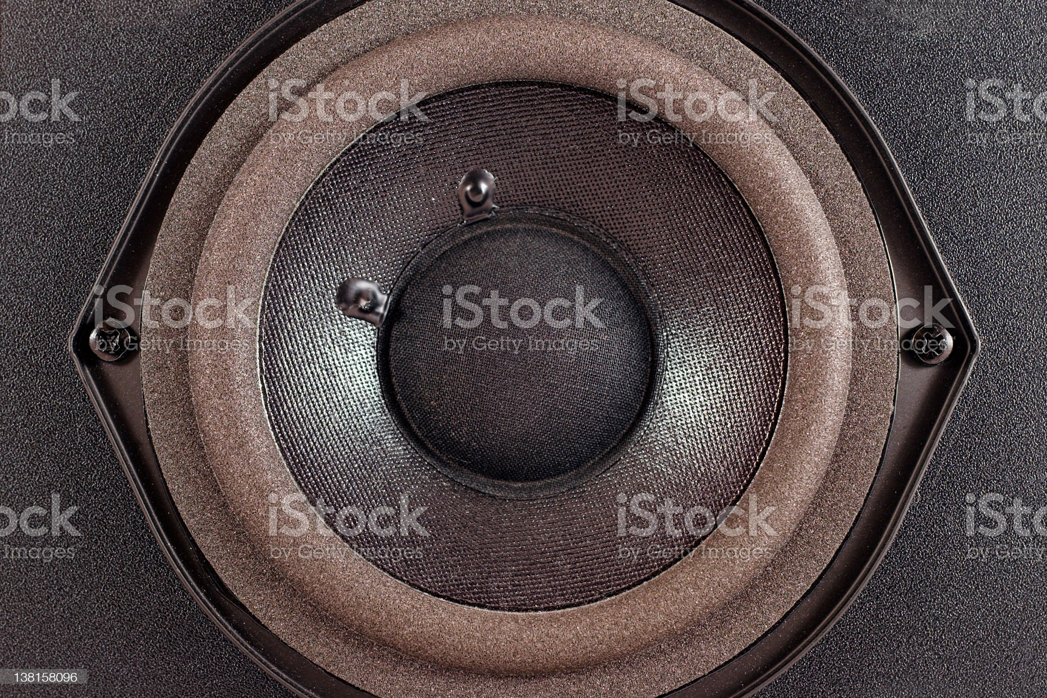 speaker cone woofer royalty-free stock photo