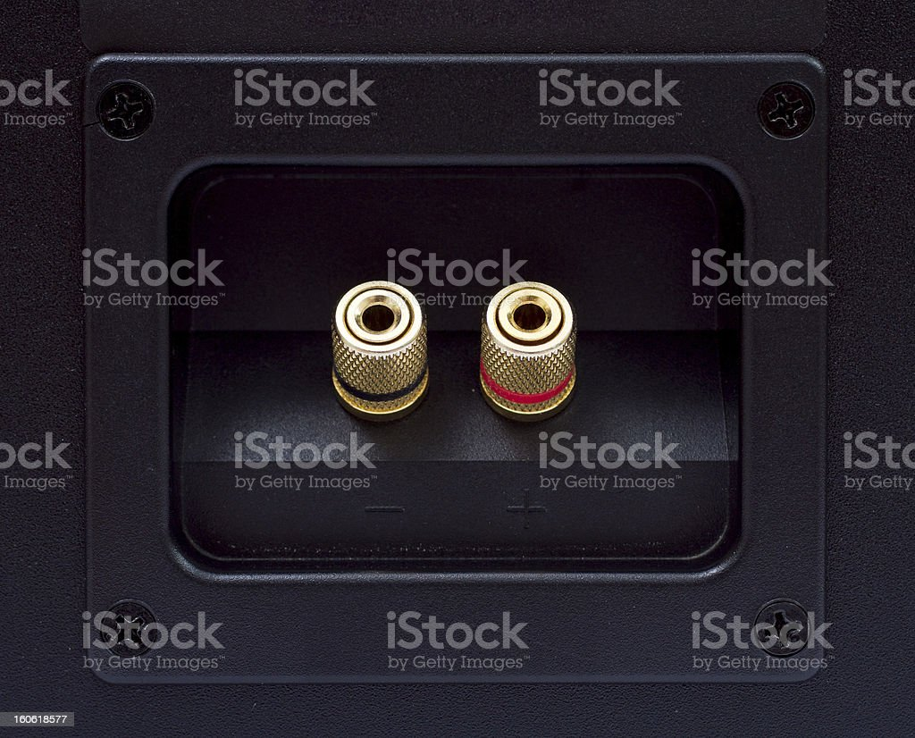 speaker connector royalty-free stock photo
