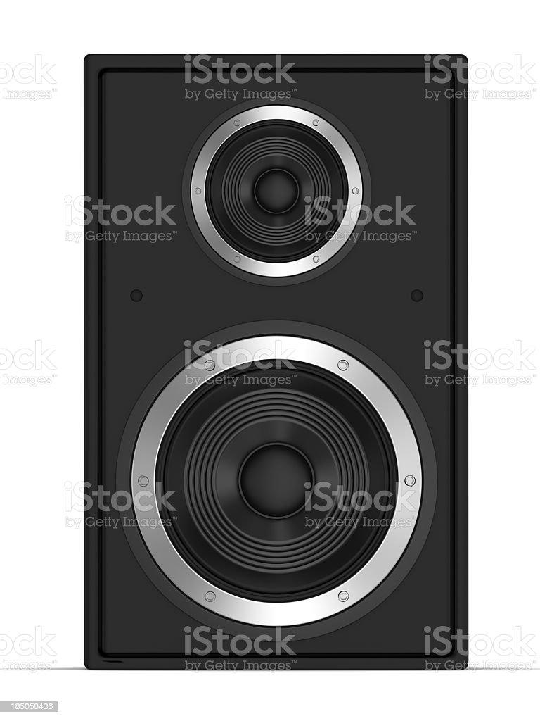 Speaker front view stock photo