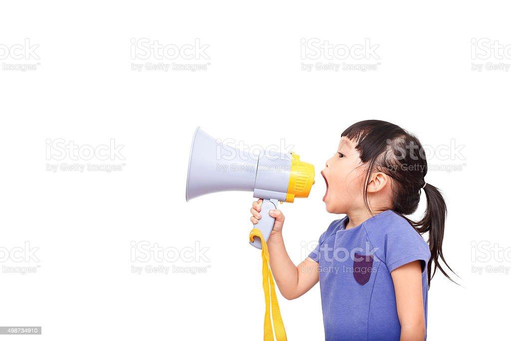 speaker girl stock photo