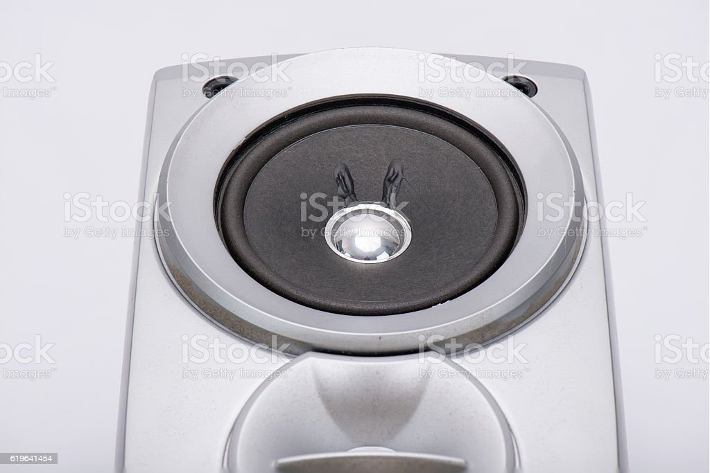Speaker grey and black stock photo