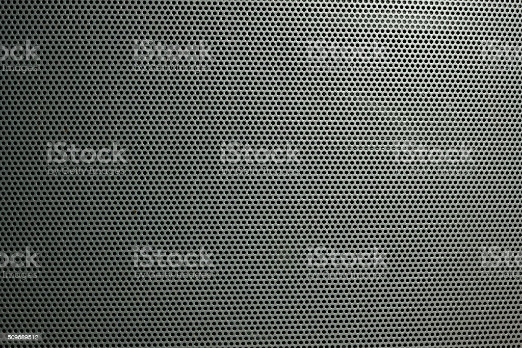 Speaker grille on the big theater speaker shot closeup stock photo
