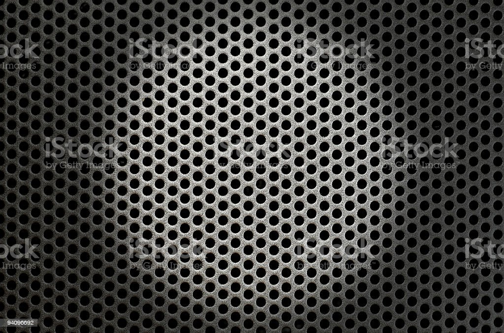 Speaker Grille with spot as background stock photo