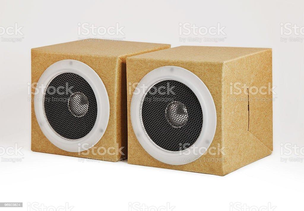 Orador ha hecho en papel reciclado foto de stock libre de derechos