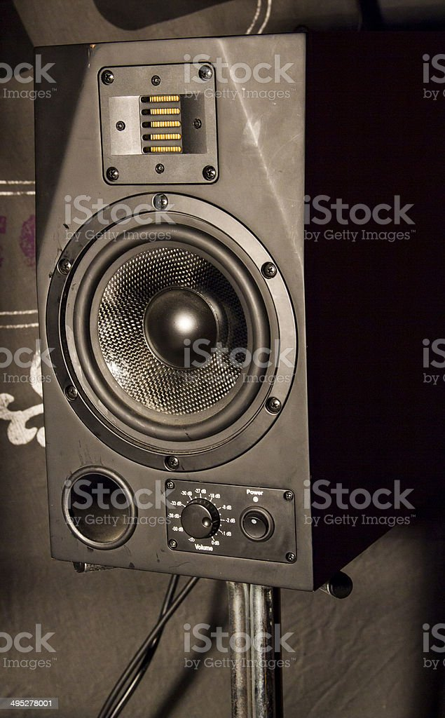 Speaker Monitor stock photo
