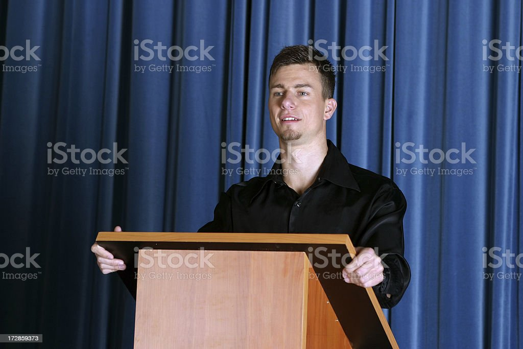 Speaker on conference royalty-free stock photo