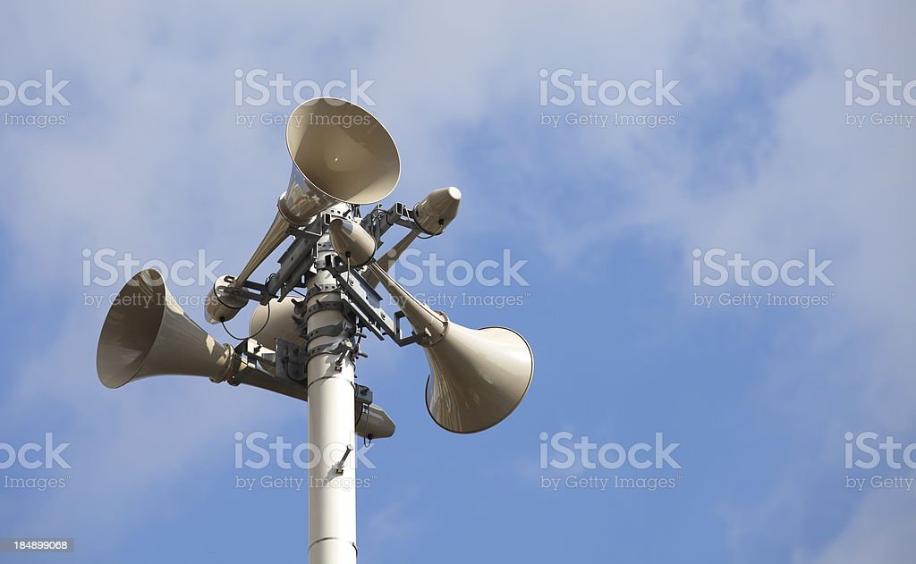 Speaker on high tower royalty-free stock photo