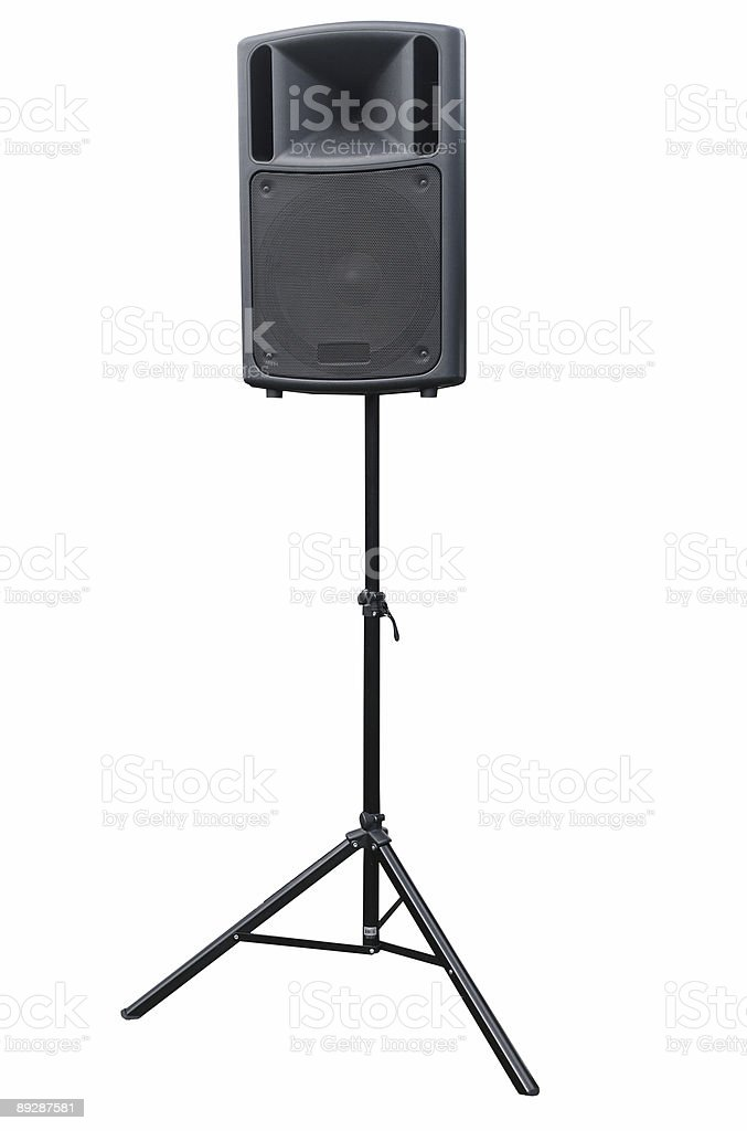 Speaker on Tripod Stand royalty-free stock photo
