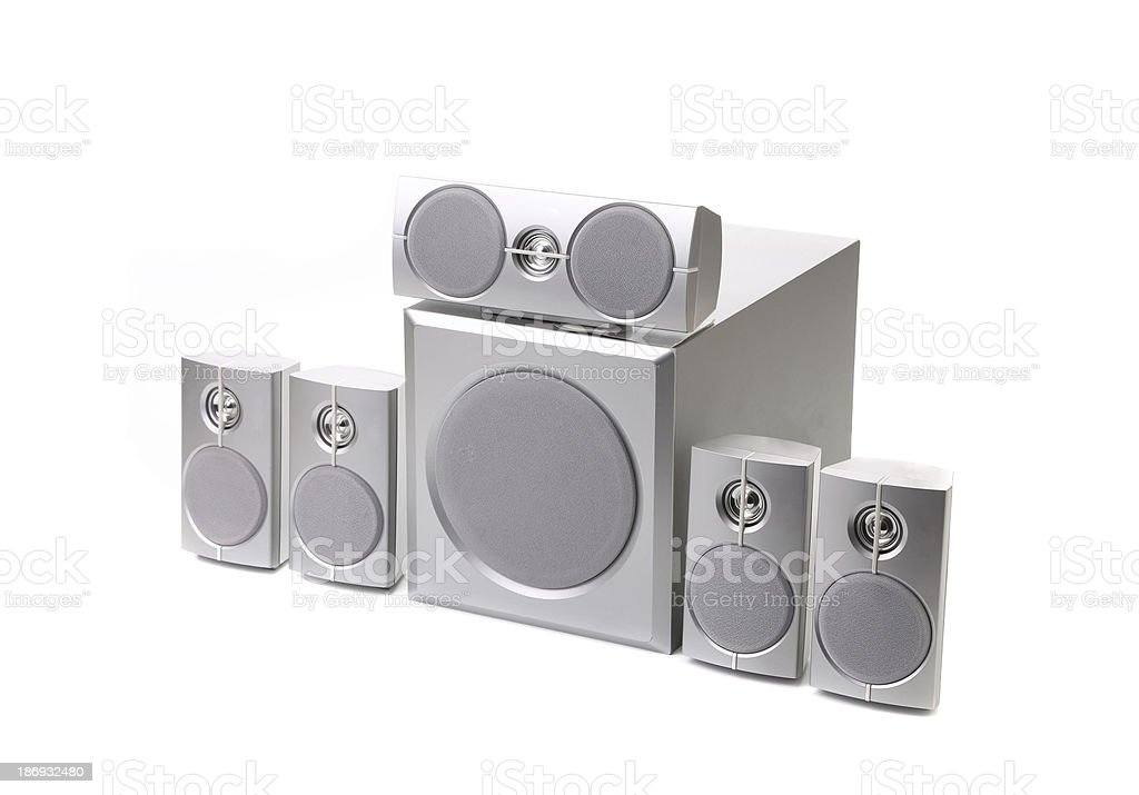 Speaker system. stock photo