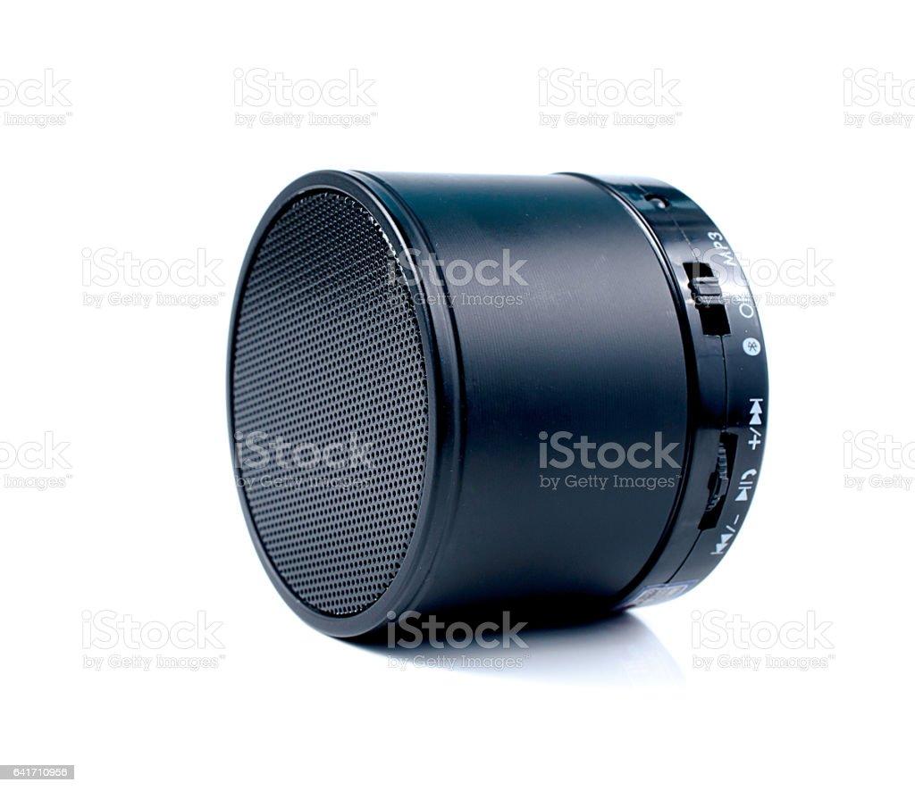 speakers electronic close up on white background. stock photo