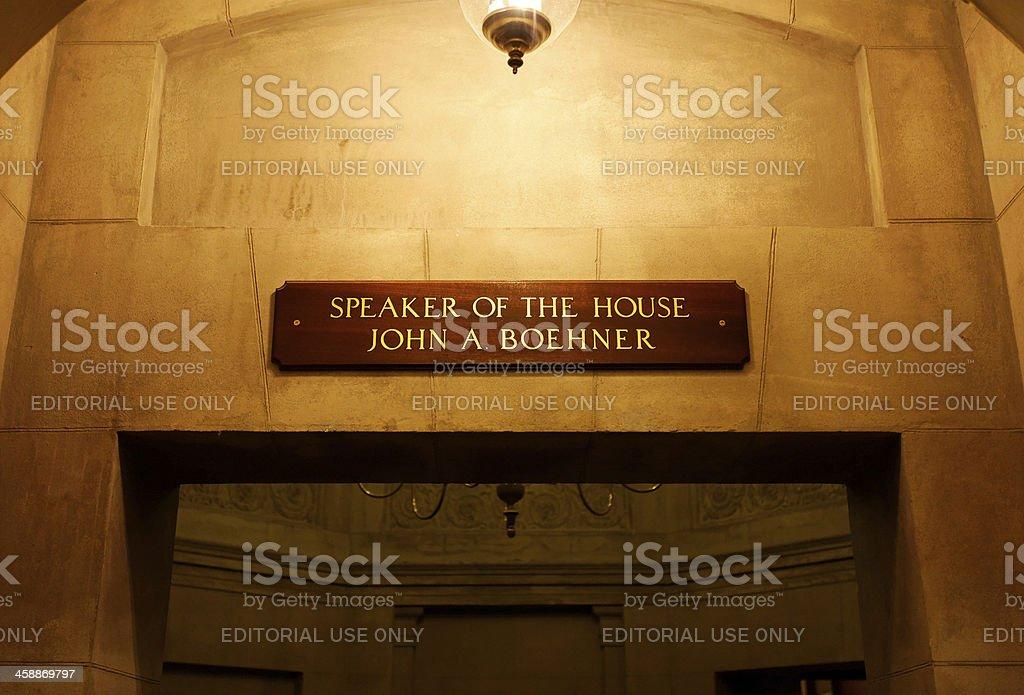 Speaker's Rooms stock photo
