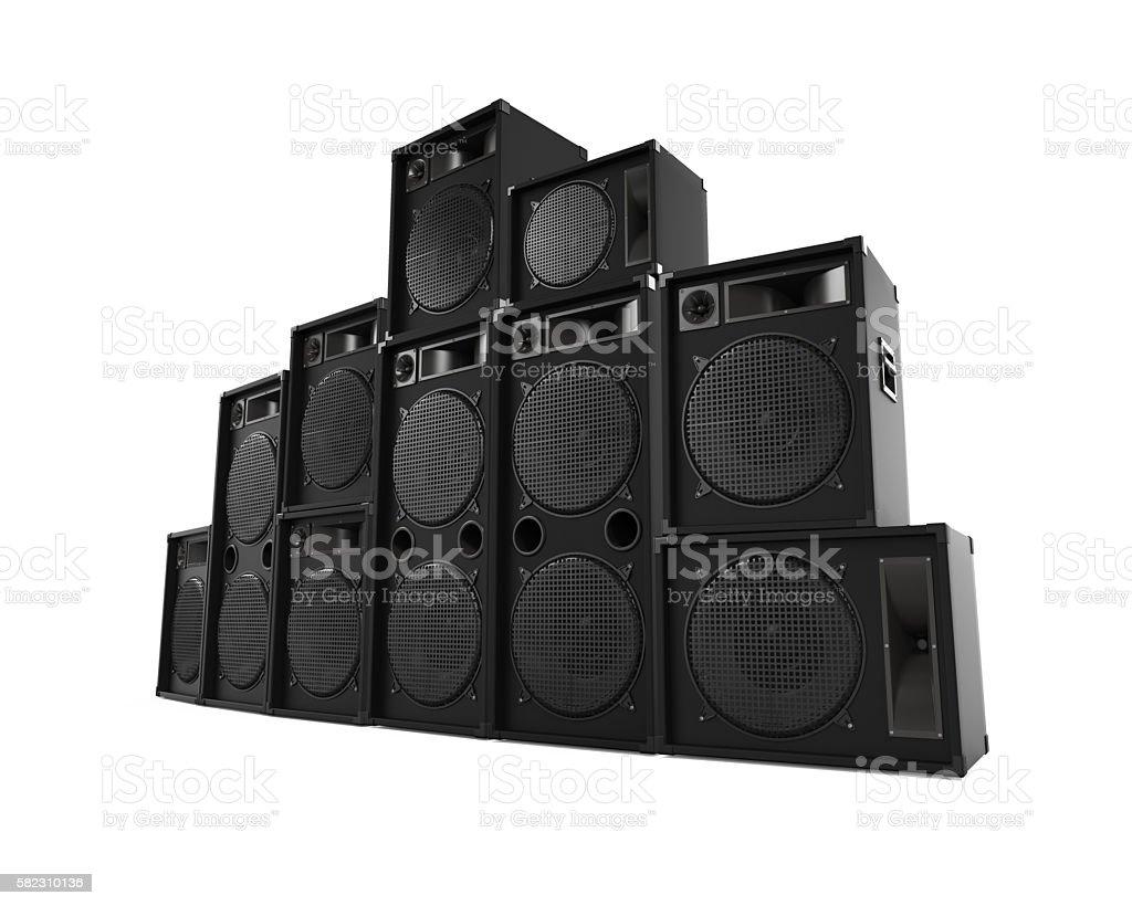 Speakers Sets stock photo