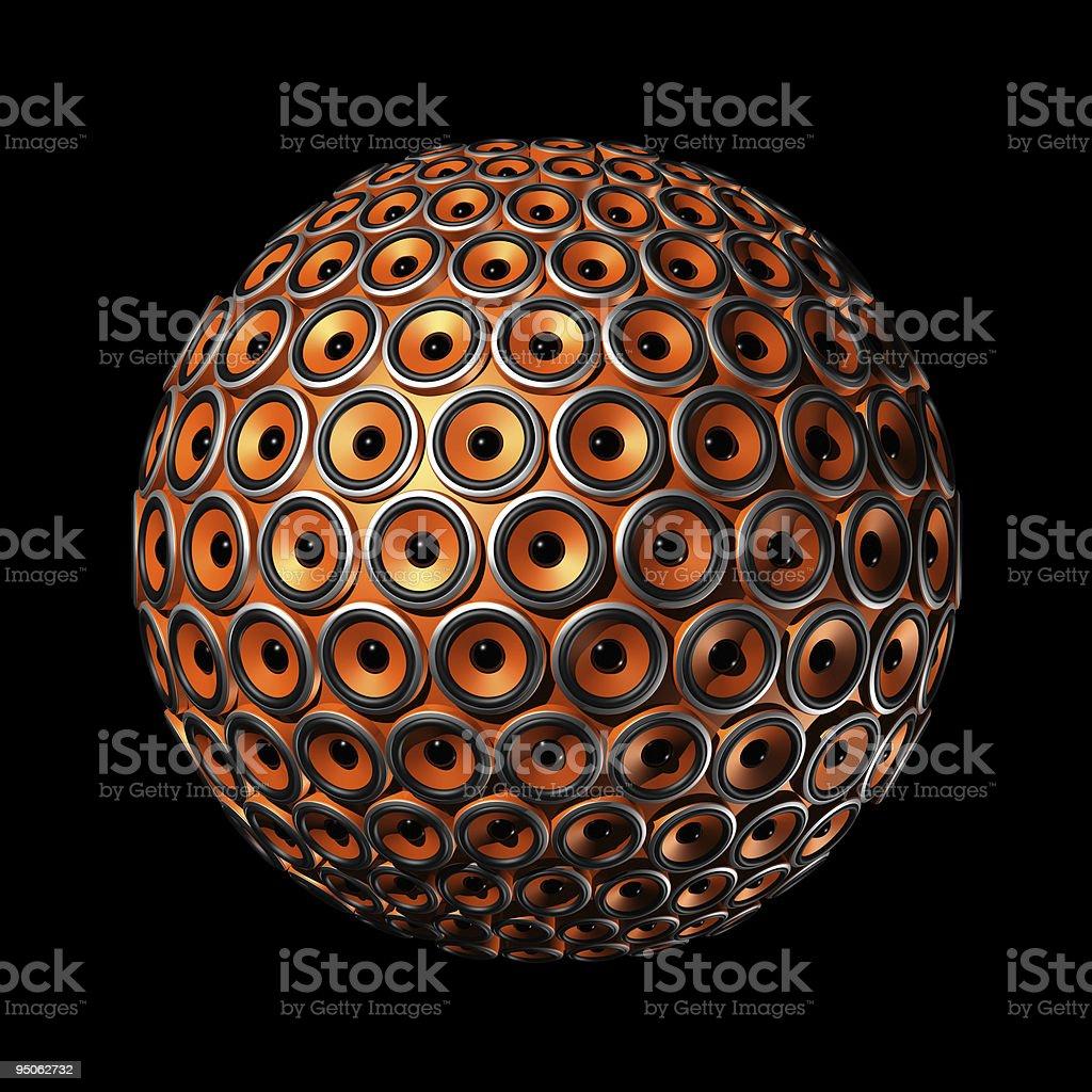 speakers sphere stock photo