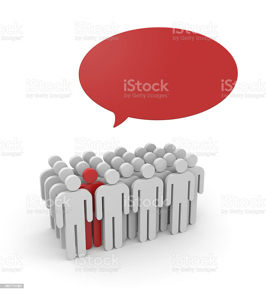 Speaking out from the crowd royalty-free stock photo