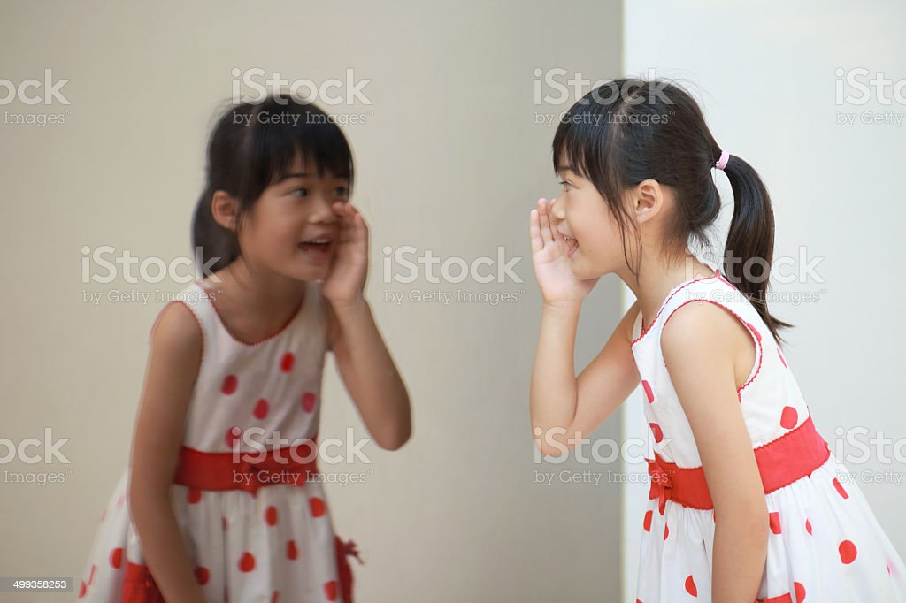 speaking to oneself stock photo