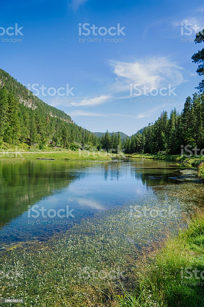 Spearfish Canyon in South Dakota stock photo