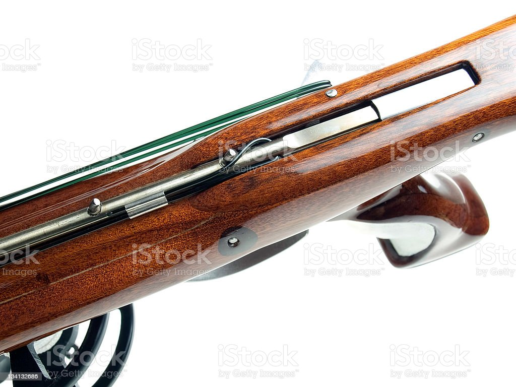 Speargun mechanism stock photo