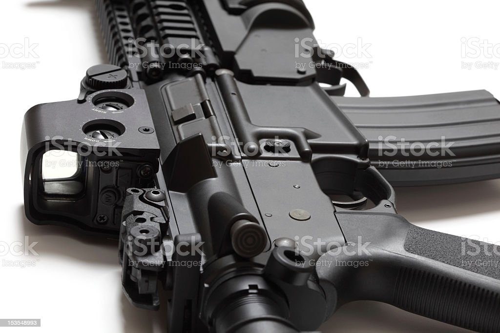US Spec Ops M4A1 assault carbine royalty-free stock photo