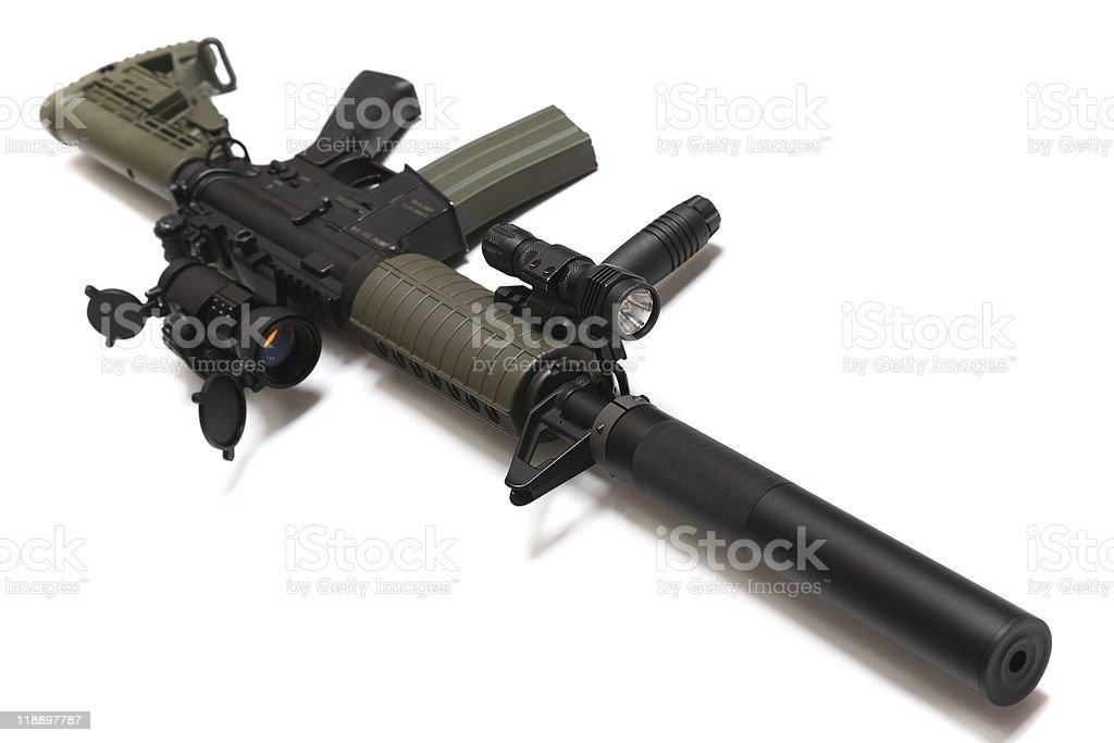 US Spec Ops M4A1 custom assault rifle. stock photo