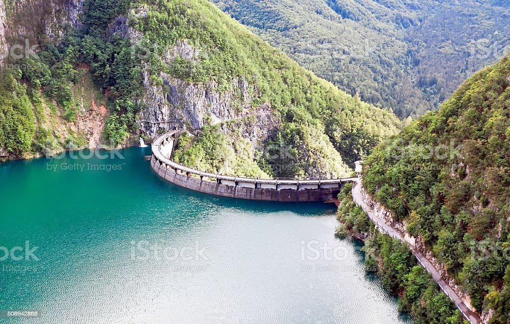 Speccheri dam, Alps, province of Trentino-Alto Adiges,  Italy stock photo