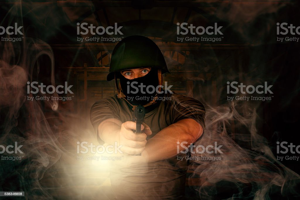 special agent during mission stock photo